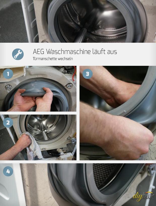 aeg waschmaschine l uft aus t rmanschette wechseln reparatur anleitung. Black Bedroom Furniture Sets. Home Design Ideas