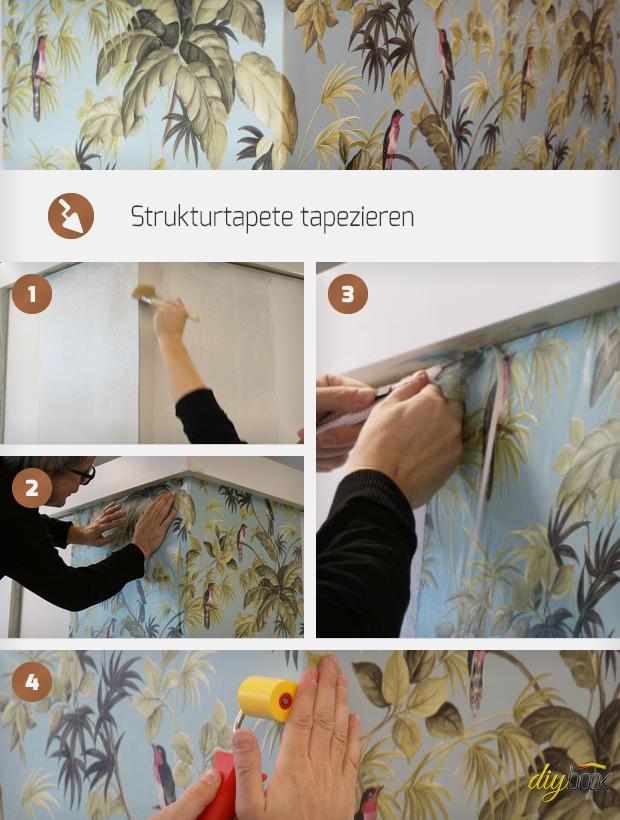 strukturtapete tapezieren anleitung. Black Bedroom Furniture Sets. Home Design Ideas