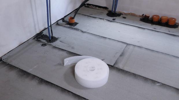 Ausgangslage: Geflämmte Bodenplatte
