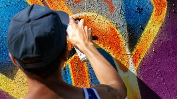 Farben und Formen mit Graffiti