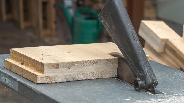Verarbeitung von Brettsperrholz