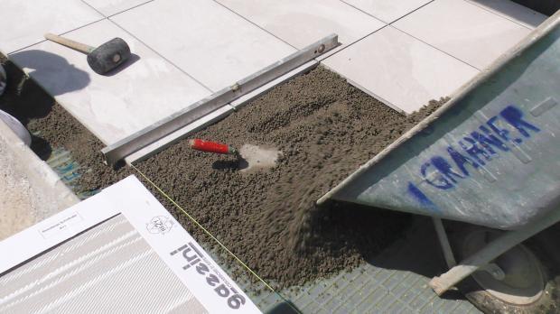 Verlegewerkzeug für Terrassenplatten
