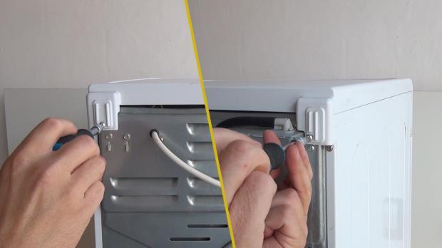 Schrauben des Gerätedeckels lösen