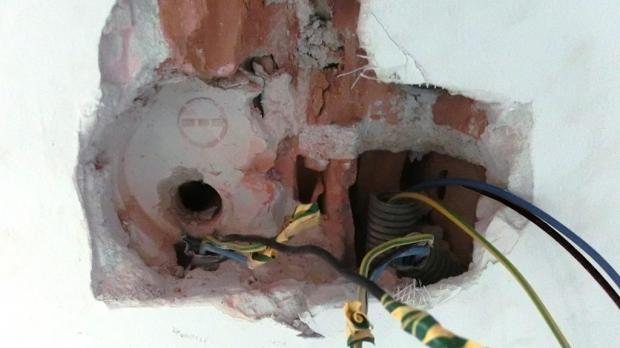 Vorhandene Elektroinstallation entfernen
