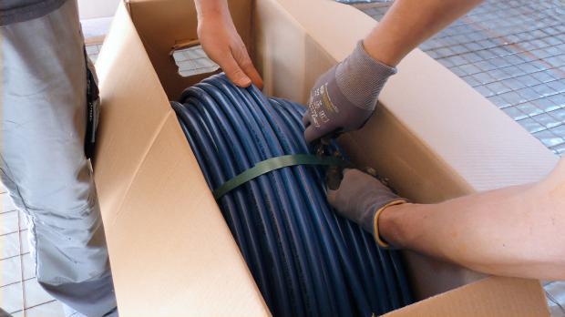 Heizungsrohre auspacken