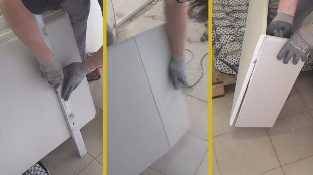 Gipskartonplatten schneiden bzw. brechen