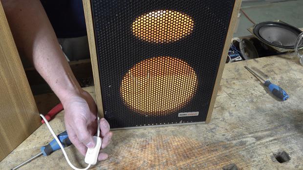 Neue DIY-Lampe testen