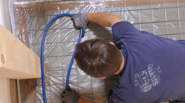 Heizungsrohr biegen mit Radius von 20 cm