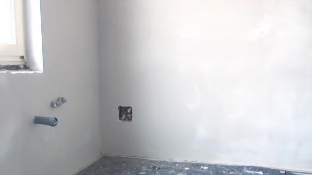 Wand verputzen wand spachteln anleitung - Verputzte wand streichen ...
