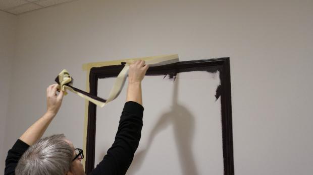 Malerkrepp bei noch feuchter Farbe wieder entfernen