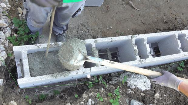 Schalsteine betonieren