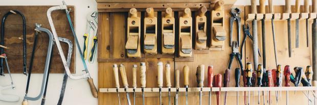 Gut sortiertes Werkzeug