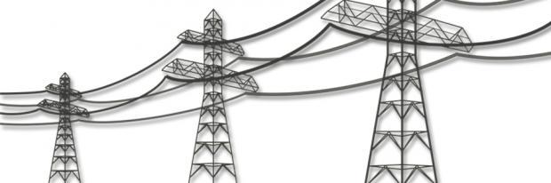 Illustration von Stromleitungen