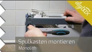 Embedded thumbnail for Spülkasten montieren – Anschließen eines Geberit Monolith