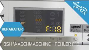 Embedded thumbnail for BSH Waschmaschine - Fehler F18 beheben