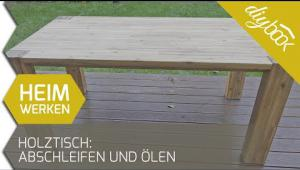 Embedded thumbnail for Holztisch abschleifen und neu ölen