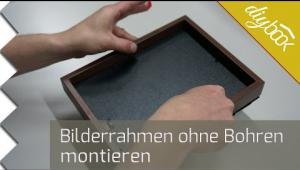 Embedded thumbnail for Bilderrahmen ohne Bohren aufhängen