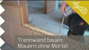 Embedded thumbnail for Trennwand bauen: Das Mauern ohne Mörtel