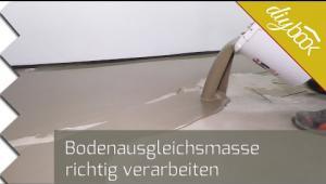 Embedded thumbnail for Bodenausgleichsmasse verarbeiten