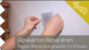Embedded thumbnail for Rigips reparieren mit Reparaturgewebe