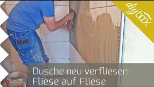 Embedded thumbnail for Dusche verfliesen: Das Fliesen auf Fliesen