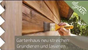 gartenhaus streichen das video anleitung tipps vom. Black Bedroom Furniture Sets. Home Design Ideas