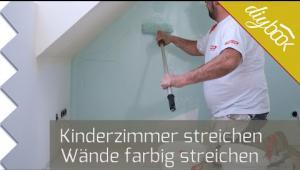 Embedded thumbnail for Kinderzimmer streichen - Wände farbig streichen